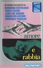 AMOR E RAIVA - Marco Bellocchio / Bernardo Bertolucci / Jean-Luc Godard / Carlo Lizzani / Pier Paolo Pasolini / Elda Tattoli - RARISSÍMO - IMPERDIVEL